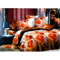 Valtellina Pollycotton Rose Design Double Bedsheet