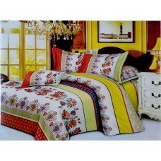Valtellina Pollycotton Royal Mix Design Double Bedsheet