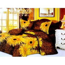 Valtellina Pollycotton Sun Flower Design Double Bedsheet