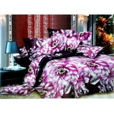 Valtellina Pollycotton Purple Rose Double Bedsheet