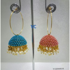 Colored Alloy Jhumki Earring