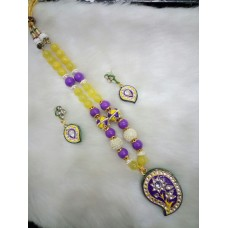 Yellow Purple Alloy Necklace
