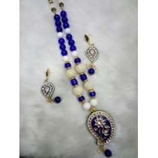 Blue White Alloy Necklace