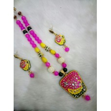 Yellow Pink Alloy Necklace