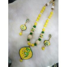 Yellow Green Alloy Necklace