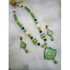 Green Blue Alloy Necklace