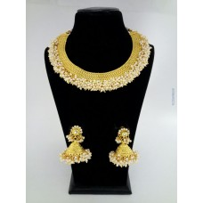 Gold plated Alloy jewel Necklace