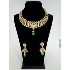 Alankruthi Antique Green Stone  Traditional Necklace