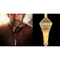 Bajrangi Bhaijaan Pendant – Sterling Silver Gold Plated without Chain - Include Shipping