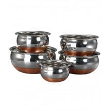Kitchen Cook Copper Bottom Prabhu Chetty Set Of 5