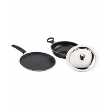 Mahavir Induction Base Kadhai With Dosa Tawa- 3 Pcs