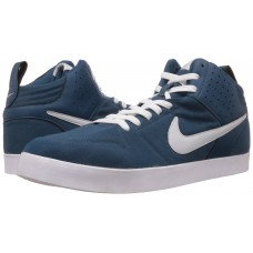 NIKE LITEFORCE III Nike Men's Liteforce III Mid Sneakers (White & navy Blue)