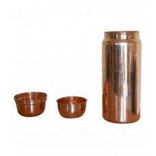 Prisha India Craft Pure Copper Water Bottle Thermos Without Joint