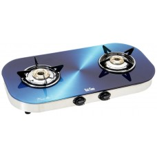 Rich Flame 2 Burner Glitter Gas Stove, Blue