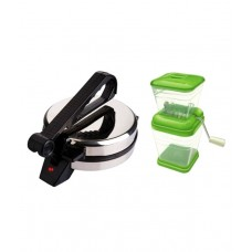 Grind Sapphire Combo Pack Of Roti Maker With Chopper