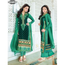 Eknoor - Designer  Suit  Set  With Pure Nazneem  And  Chiffon Dupatta (Green)
