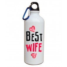 Tiedribbons White Printed Aluminium Sipper Water Bottle
