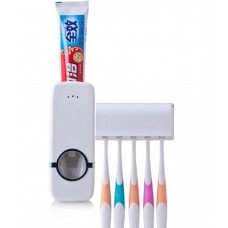 Automatic Toothpaste Dispenser & Holder With 4 Piece Toothbrush