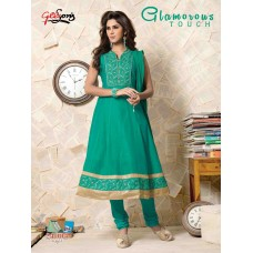 Emotions – Embroidered Stitched Anarkali Salwar Suit Dupatta(Turquoise)