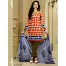 Mix Cotton Designer Salwar Suit Dupatta Material (Mix Color )